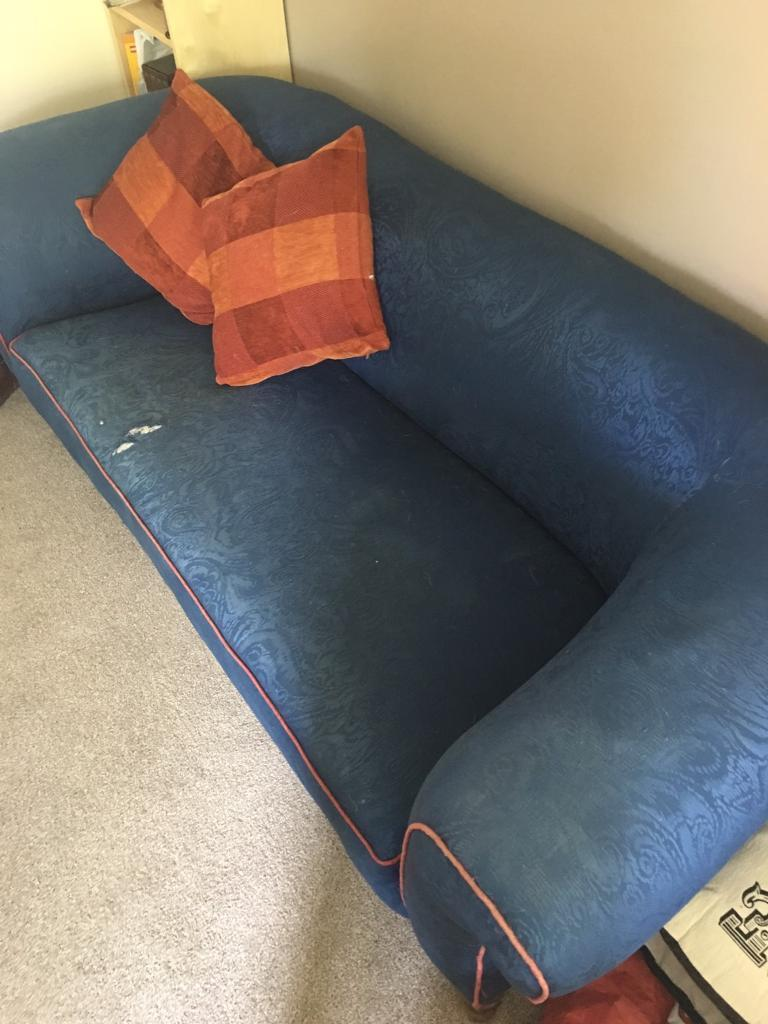 Chesterfield styled sofa.