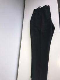 PRIMARK WORK TROUSERS BLACK SIZE 14