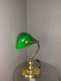 6 green and gold lamps bargain price
