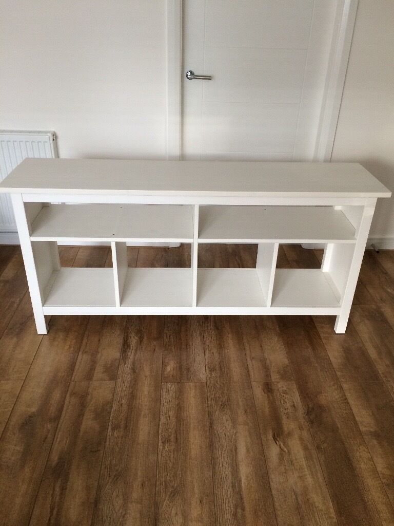 Ikea hemnes console table tv stand in motherwell north for Ikea hall table