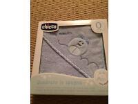Chicco baby boy newborn blue towel