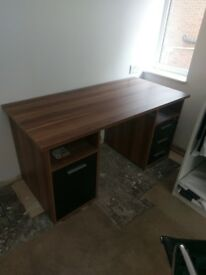 Desk with Walnut effect top, £250 when purchased