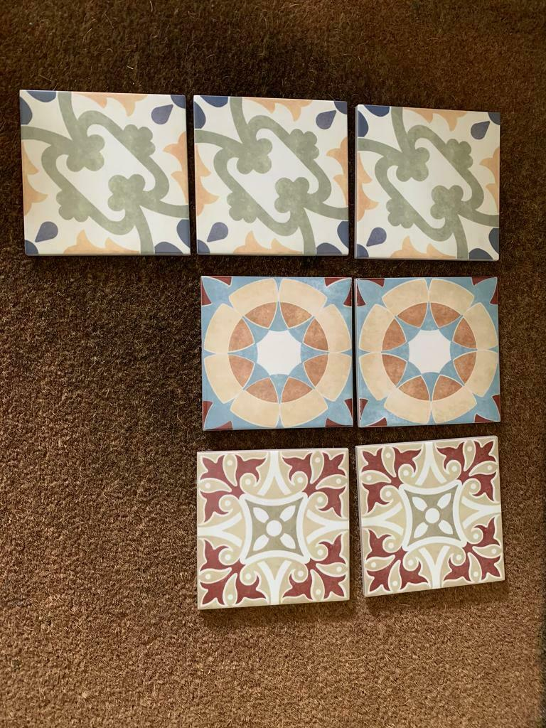 7 patterned wall tiles