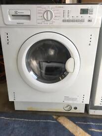 Integral washer dryer