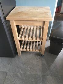 Kitchen storage table