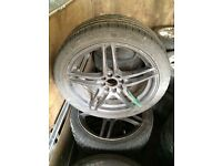 Vauxhall 4 Stud Multifitment alloy wheels with 4 tyres 17""