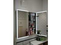 2 x BRAND NEW Bathroom Cabinet with Demister RRP £269. COSMETIC DAMAGE