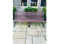 Antique Victorian Cast Iron Garden Bench