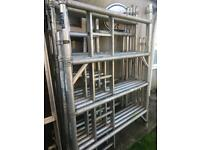 Boss double-width aluminium scaffolding tower