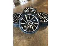 """Brand new set of 20"""" alloy wheels and tyres Vw T5 T6 Transporter"""