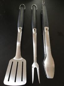 BBQ Barbeque Tongs Slice and fork. Brand new. Large size top quality.