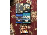 Heroes, The West Wing and The Tudor's dvd boxsets just 50p each
