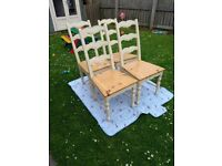 4 Shabby chic dining chairs