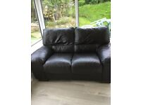 2 and 3 seater leather sofa's