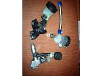 Gsxr brake and clutch master cylinders and levers.
