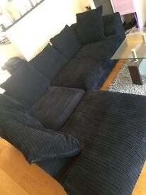 Black Chord Corner Sofa
