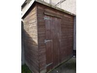 WOODEN SHED PENT 7FT X 4FT