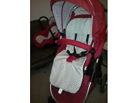 3 in 1 Travel System Buggy, Crib and Car Seat By Bonito Bebe