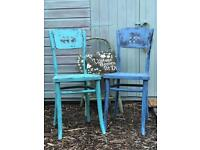 Bentwood Chairs Painted in Annie Sloan Chalk Paint