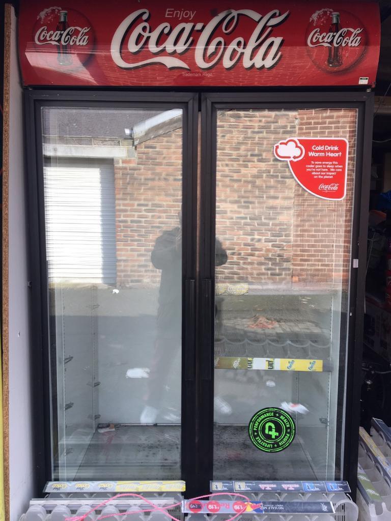 Coca Cola Double Door Fridge In Sunderland Tyne And