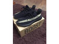 Yeezy V2 boost black/green size 10 Genuine adidas