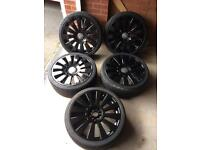 AUDI S8 STYLE 19 INCH ALLOYS A3/A4/VW GOLF/CADDY/T4/PASSAT ROTOR BBS