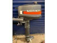Mariner Yamaha 4hp short shaft 2 stroke outboard boat engine
