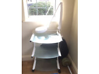 Beauty Salon Trolley with Magnifying Lamp for sale