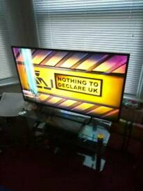 "50"" led television (damaged screen but still watchable)"
