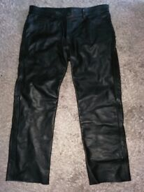 Leather Jeans Mens as new