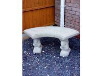 Garden Bench Concrete / Stone Curved