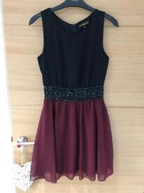 Missguided Black Chiffon Dress