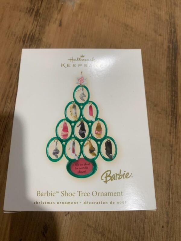 Hallmark Keepsake Ornament 2008 Barbie Shoe Tree Christmas Green Shoes