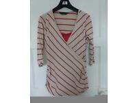 Blooming Marvellous stripy top size 12