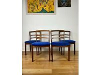 Mid Century G Plan Fresco Victor Wilkins Teak Four Dining Chairs FREE LOCAL DELIVERY
