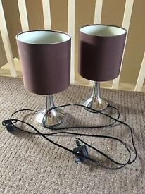 Brown touch lamps