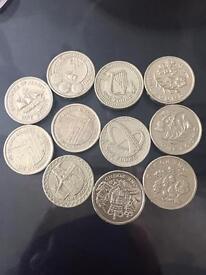 Coin uk one £1 pound Rare coins