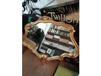 FREE Large ornate baroque gold mantle mirror - Perfect