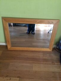 Large wooden mirror £10.00