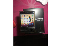 Almost Brand New BlackBerry Passport with protective case