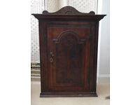 Beautifully carved, very old (early 1800's?) oak corner cupboard.