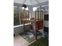 Wooden raised play area / deck / den / toy REDUCED