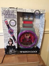 Justin bieber wall watch clock