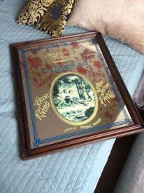 Rare Vintage Levi's mirror, Pine frame 1970s