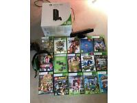 Xbox 360 250GB games, connect & headset