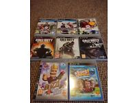 8 ps3 game bundle, cod, fifa + more