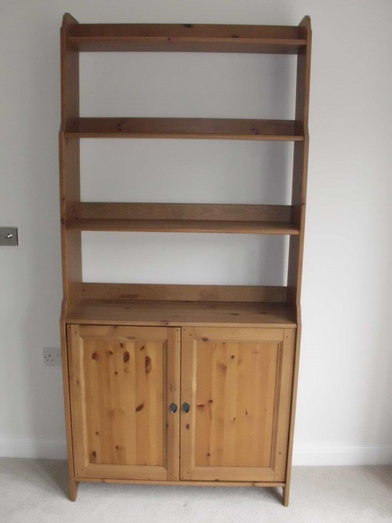 Greatest IKEA LEKSVIK BOOKCASE CUPBOARD DRESSER DISPLAY UNIT. VERY GOOD  UU84