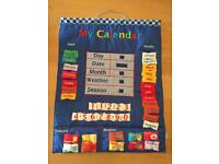 Wall calendar learning for child