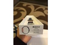 NEW Apple iWatch 12months Apple warranty Rose gold + Midnight blue strap 42mm Aluminium Series 1