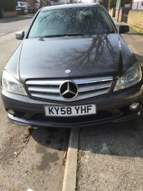 Mercedes Benz C220 2008 58 Plate CDI Grey Automatic Alloys 6 Speed Saloon Sport Full Leather